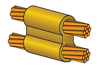 CADWELD Molds for Cable to Cable Welded Electrical Connection