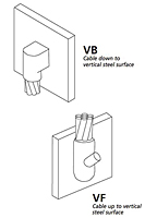 Vertical Steel Surface Connectors - VB/VF