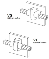 Vertical Steel Surface Connectors - VG/VT
