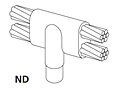 Cable To Ground Rod Copper Clad, Plain (Unthreaded) Rod - ND