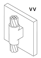 Vertical Steel Surface Connectors - VV